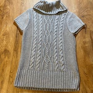 Willi Smith Grey Short Sleeve Cowl Neck size small